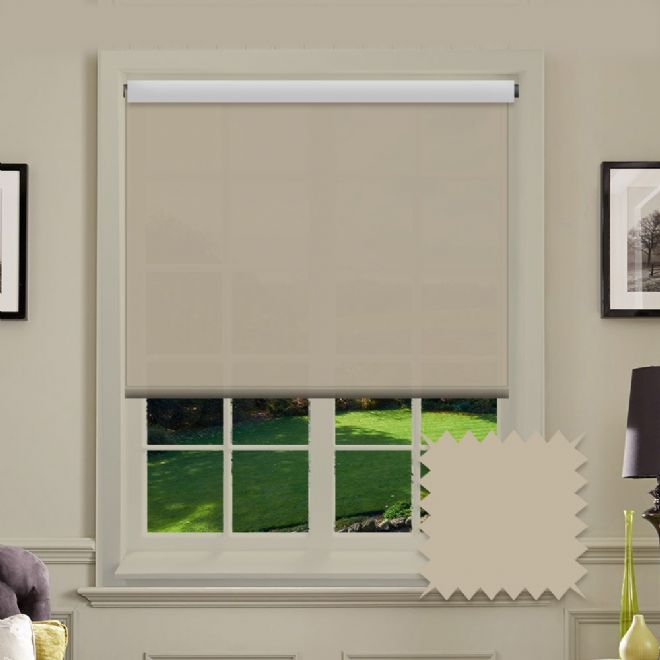 Brown Roller Blind - Astral Hessian Plain - Just Blinds